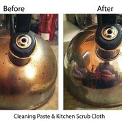 Cleaning Paste & Kitchen Scrub Cloth - Tea Kettle (Before & After) by Meighan Hopper w Text