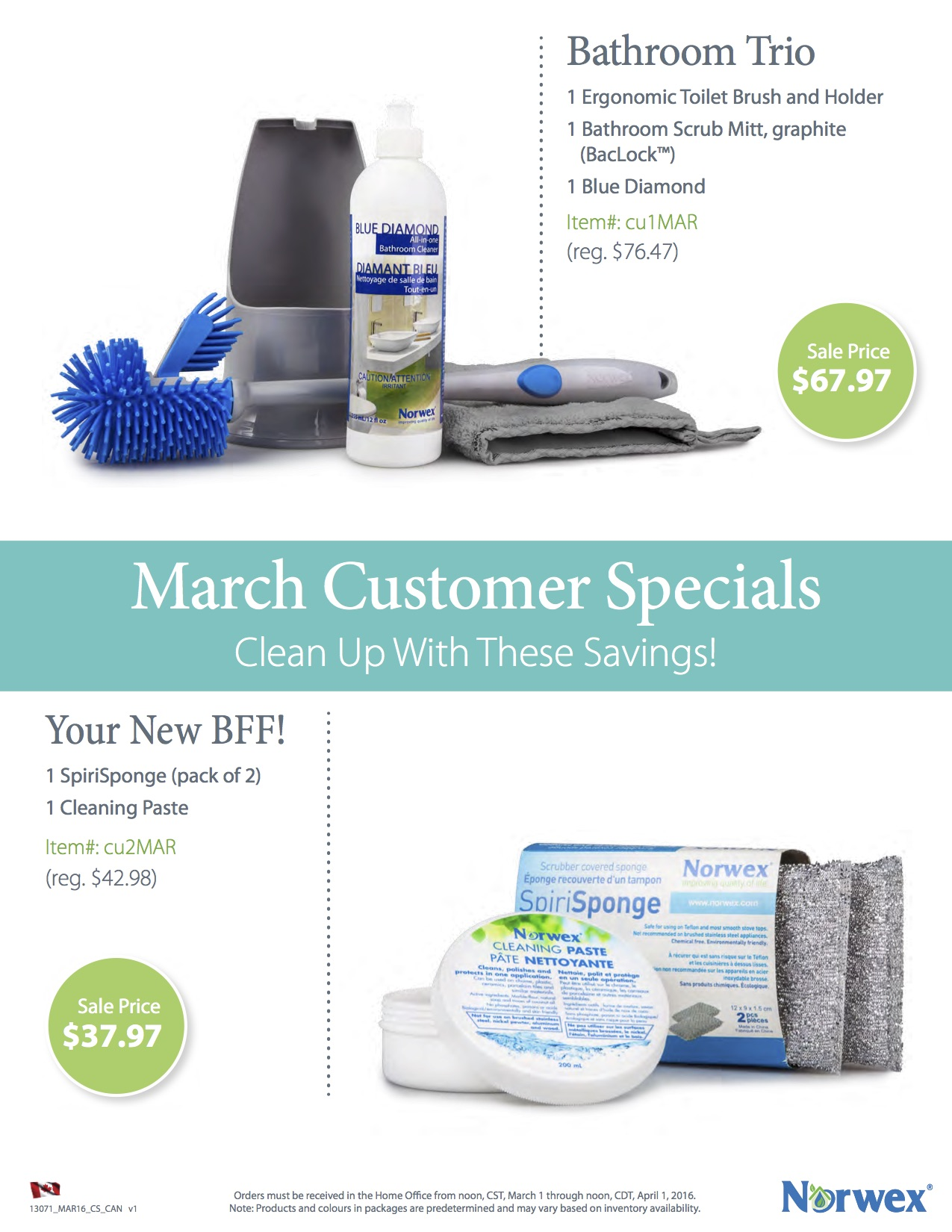 Norwex March Customer Specials