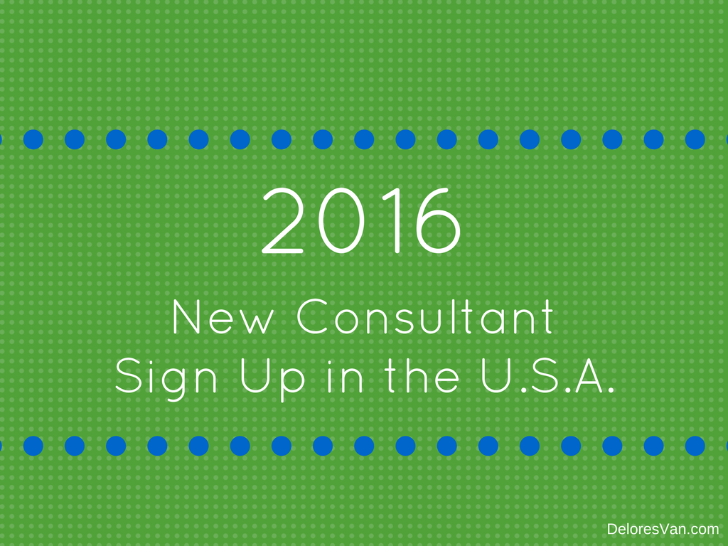 New Consultant Sign Up in the U.S.A.