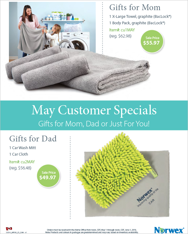 May Norwex Customer Specials