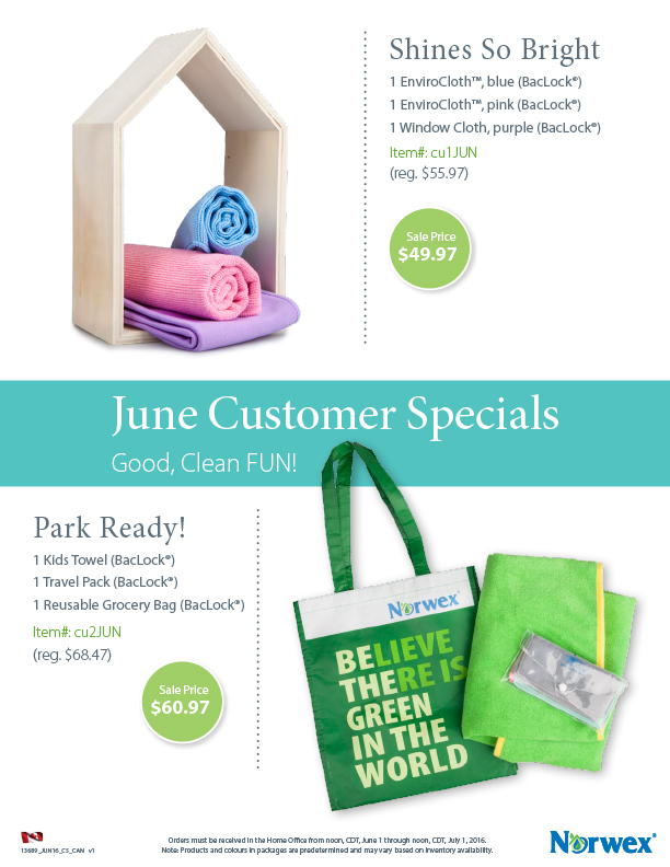 Norwex Customer Specials for June 2016