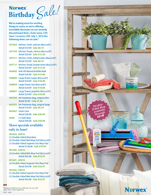 June Birthday Sale — Norwex