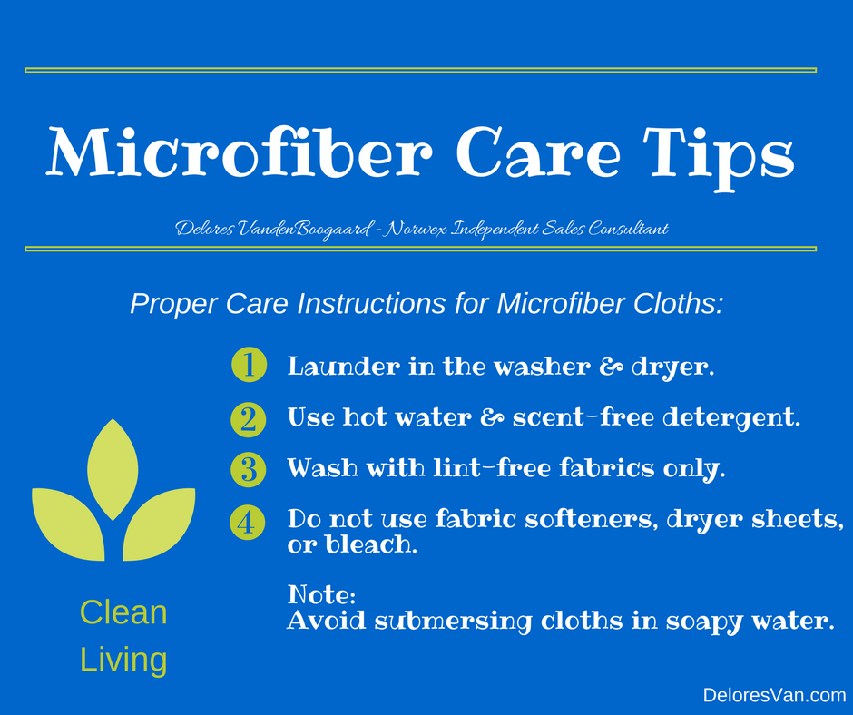 Norwex Microfiber Care Tips