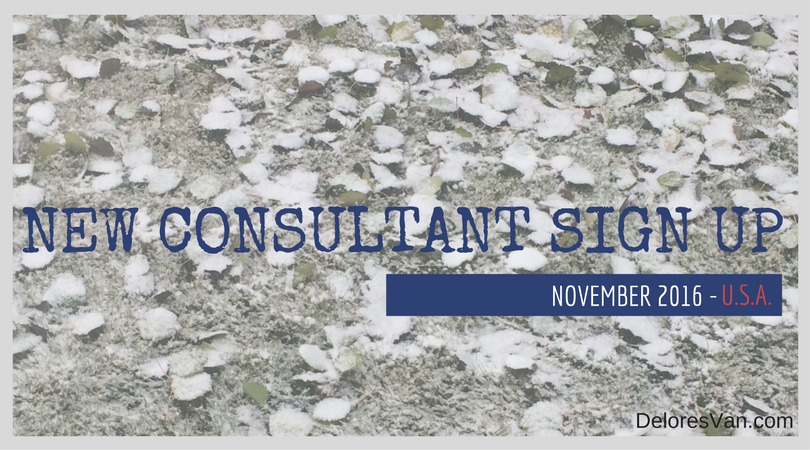 November New Consultant Sign Up Incentives – U.S.A.