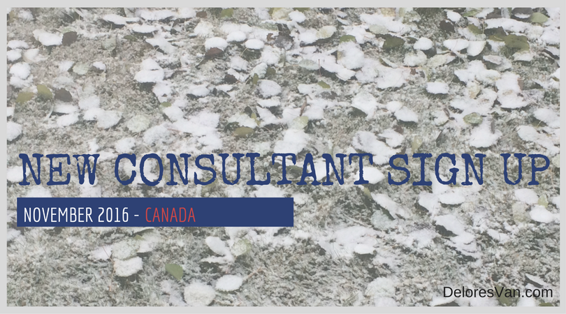 November New Consultant Sign Up Incentives – CANADA