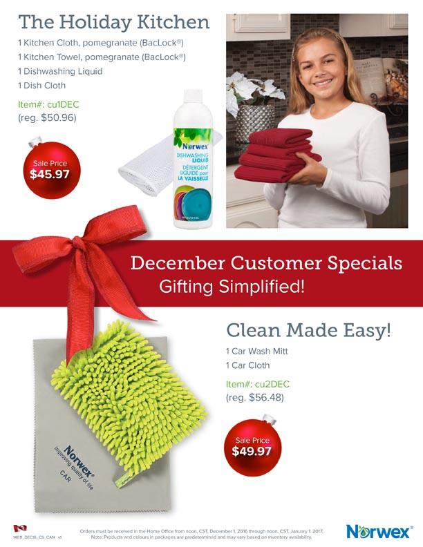 December Customer Specials