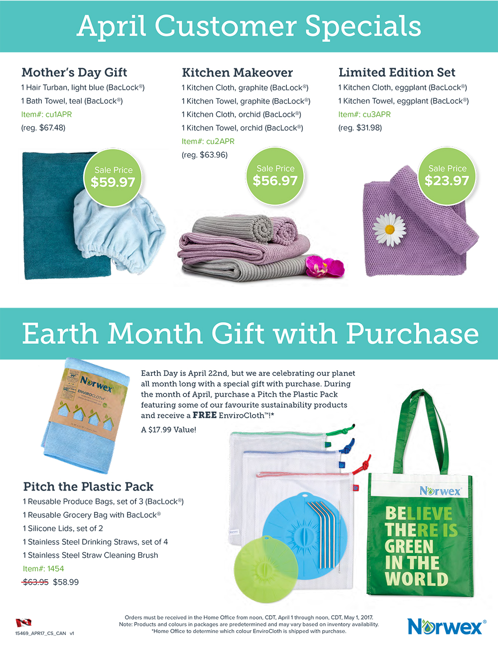 April Norwex Customer Specials