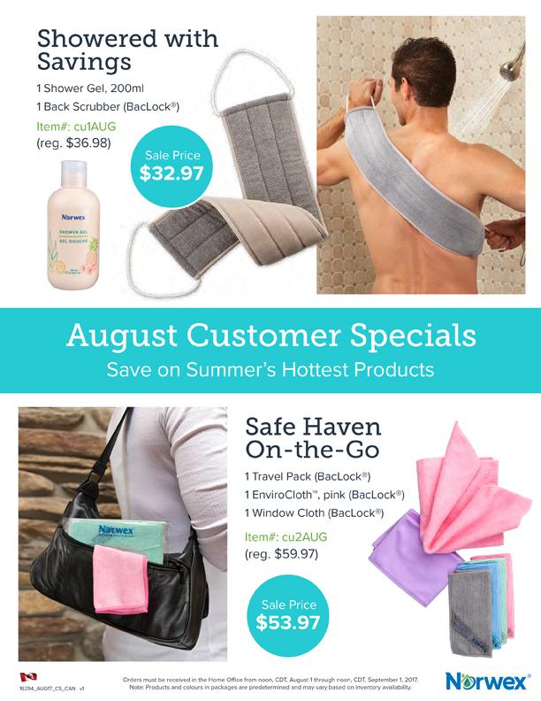 August 2017 Norwex Specials