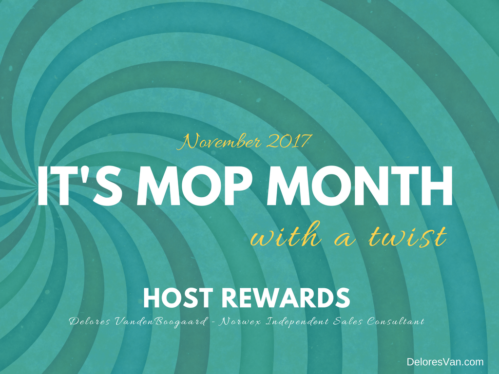 It's Norwex Host Rewards MOP MONTH with a TWIST!