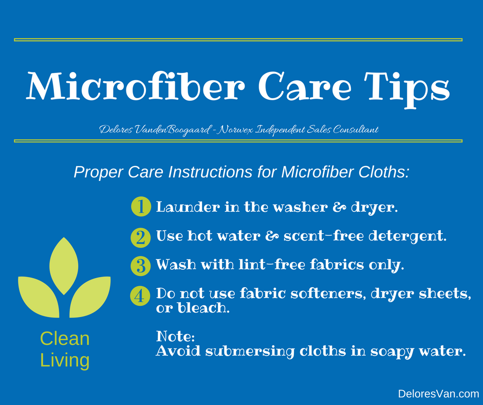 How To Care For Your Norwex Cloths Clean Natural Living With
