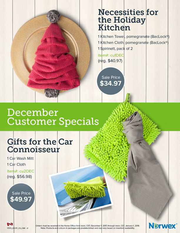 Norwex December Specials
