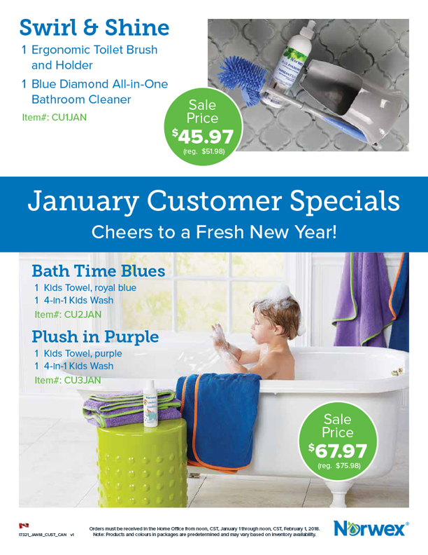 Norwex Customer Specials January 2018