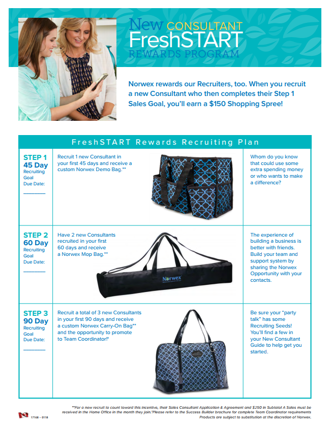 Norwex Fresh Start Recruiting