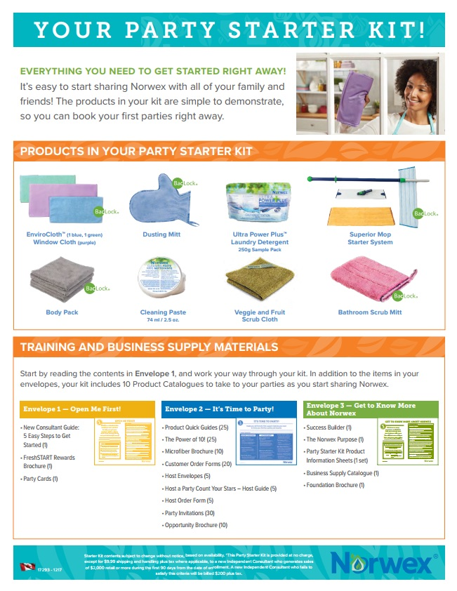 Norwex Party Starter Kit CDN