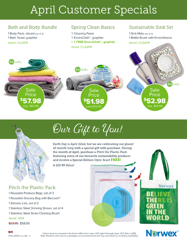 Norwex Specials Reduce Plastic