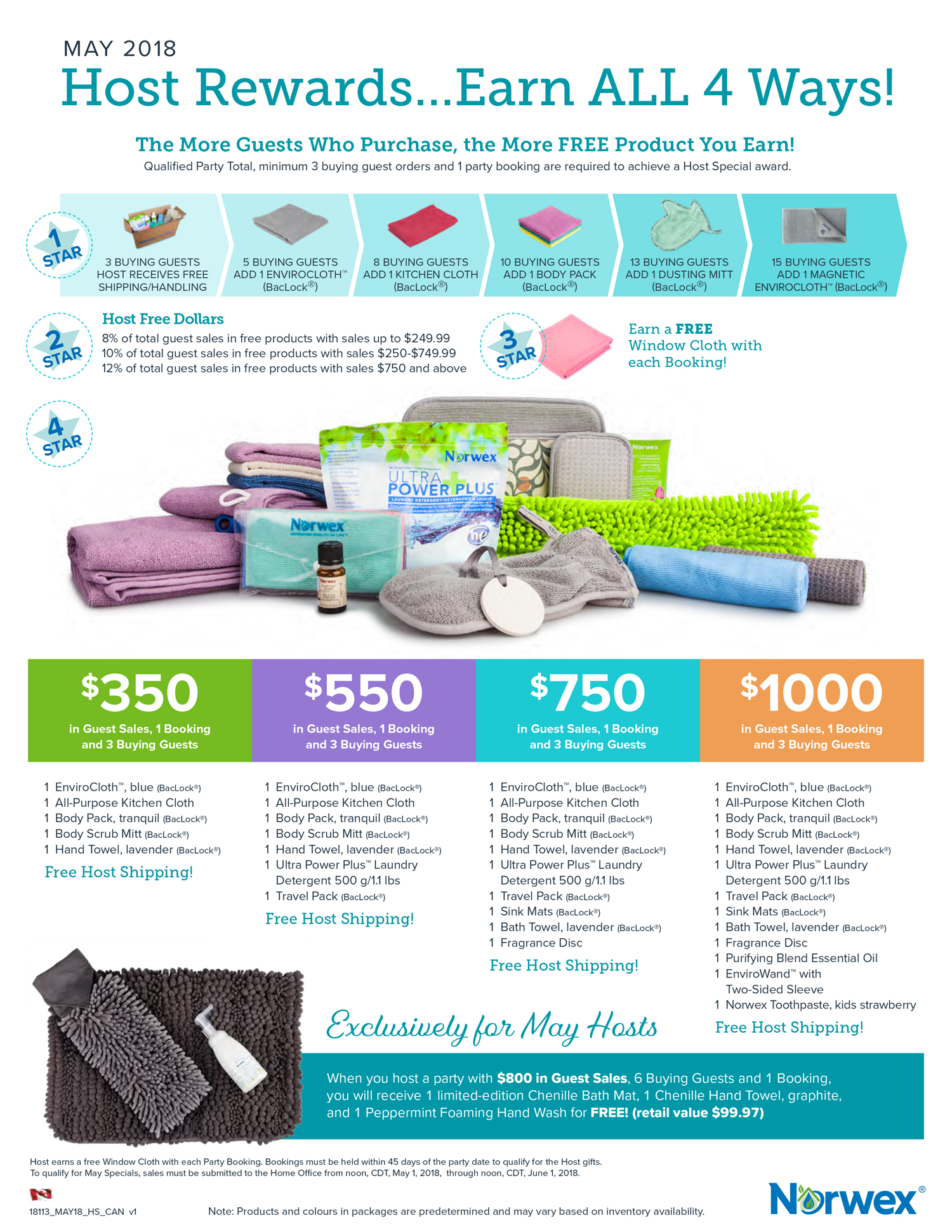 Norwex May Host Rewards