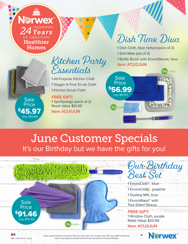 Norwex Birthday Sale 2018