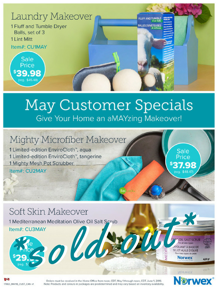 Norwex May Customer Specials