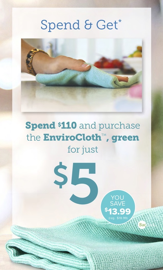 Spend $110 get $5 EnviroCloth