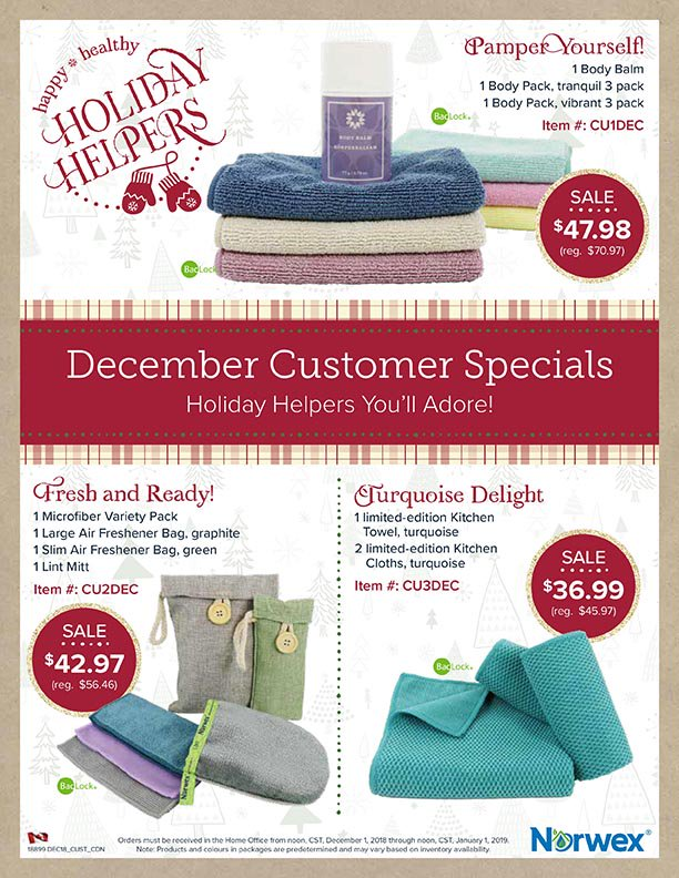 Norwex Christmas Customer Specials