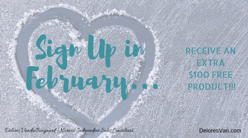 Want $100 extra FREE Product? Join Norwex in February!