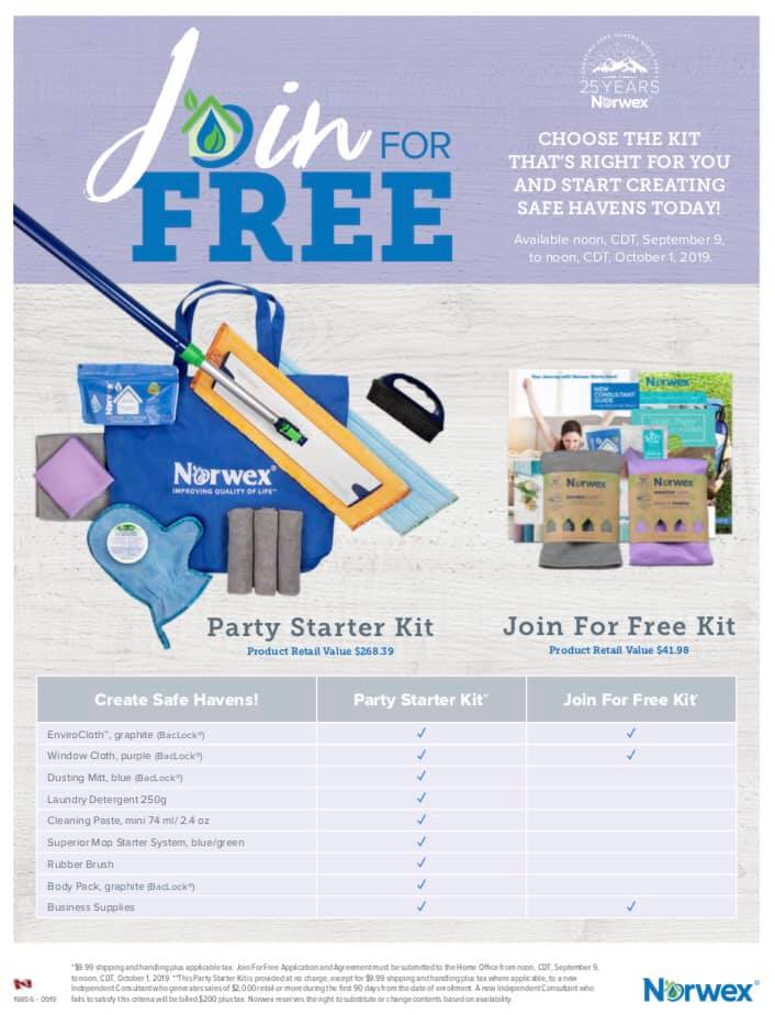 Join for Free Norwex
