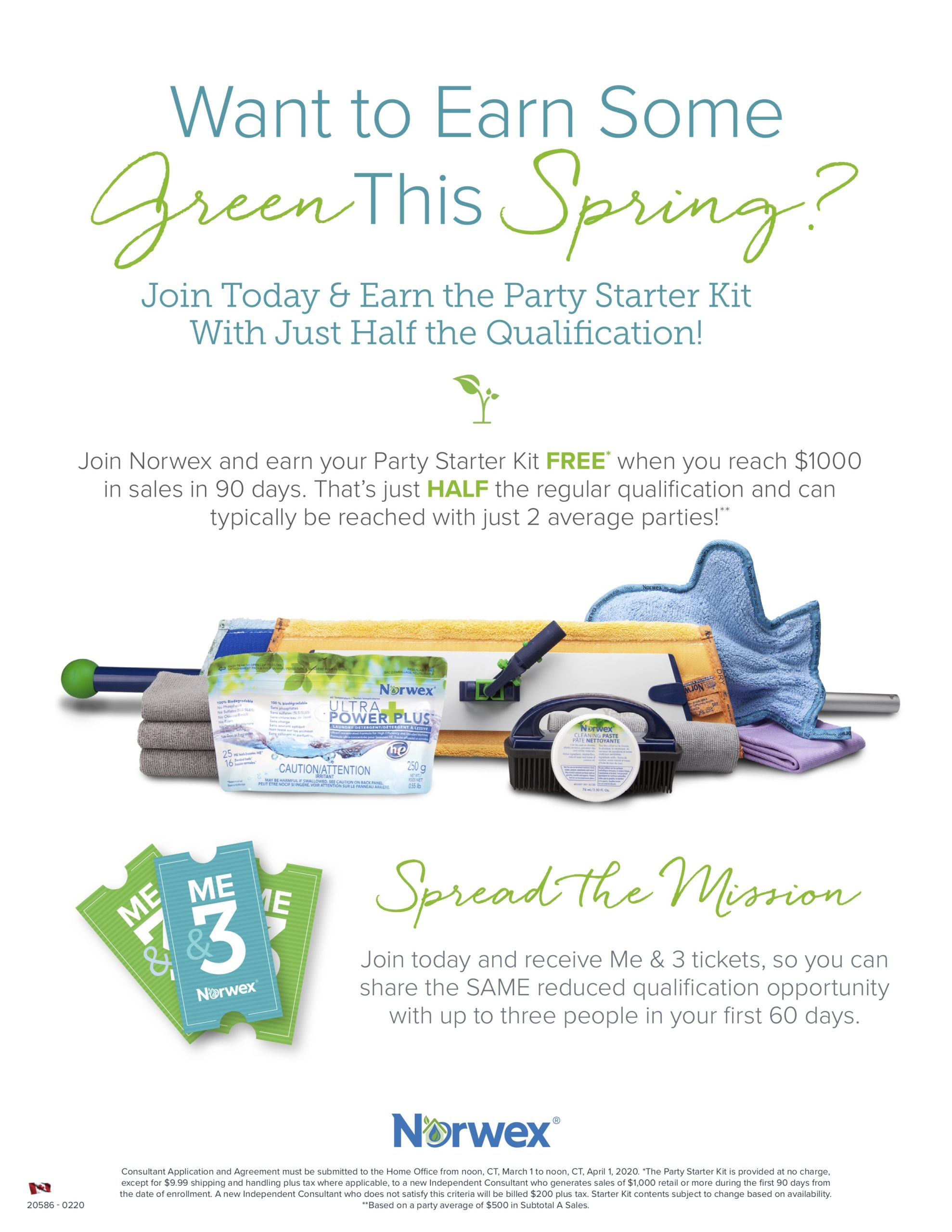 March Sign Up Norwex